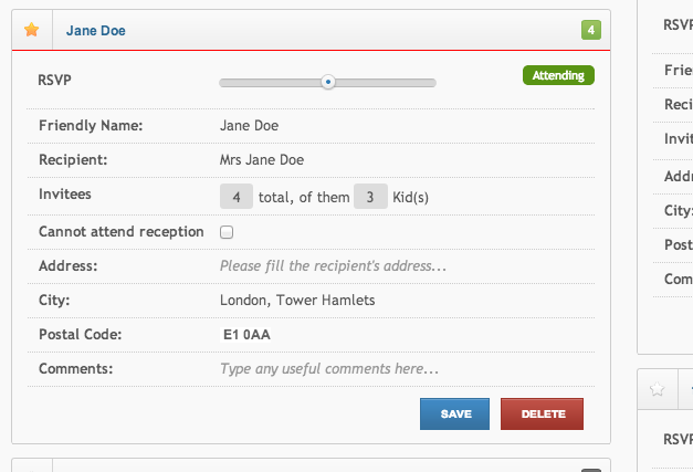 Managing your Wedding Guests, Invitations, RSVPs with wedjinni